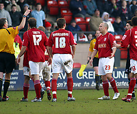 Photo: Dave Linney.<br />Walsall v Scunthorpe United. Coca Cola League 1. 11/02/2006Walsall's .Paul Devlin(23) is sent off