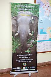 Illegal Wildlife Trafficking Poster in Vientiane Airport