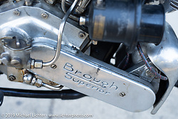 A Bryan Bossier Brough Superior on the Motorcycle Cannonball coast to coast vintage run. Stage 8 (314 miles) from Spirit Lake, IA to Pierre, SD. Saturday September 15, 2018. Photography ©2018 Michael Lichter.