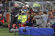 ©Jonathan Moscrop - LaPresse<br /> 07 07 2010 Durban ( Sud Africa )<br /> Sport Calcio<br /> Germania vs Spagna - Mondiali di calcio Sud Africa 2010 Semi finale - Durban Stadium<br /> Nella foto: l'allenatore della Spagna Vicente Del Bosque <br /> <br /> ©Jonathan Moscrop - LaPresse<br /> 07 07 2010 Durban ( South Africa )<br /> Sport Soccer<br /> Germany versus Spain - FIFA 2010 World Cup South Africa Semi final - Durban Stadium<br /> In the Photo: Spain's coach Vicente Del Bosque