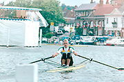 Henley on Thames, England, 1999 Henley Royal Regatta, River Thames, Henley Reach,  [© Peter Spurrier/Intersport Images],The Diamond Sculls Challenge Cup. GER M1X., Marcel HACKER,