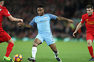 Raheem Sterling of Manchester City during the English Premier League match at Anfield Stadium, Liverpool. Picture date: December 31st, 2016. Photo credit should read: Lynne Cameron/Sportimage