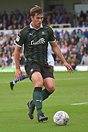 Niall Canavan (14) of Plymouth Argyle during the EFL Sky Bet League 1 match between Bristol Rovers and Plymouth Argyle at the Memorial Stadium, Bristol, England on 8 September 2018.
