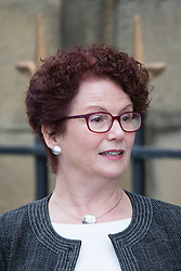 © Licensed to London News Pictures . 20/09/2014 . Manchester , UK . Outgoing MP for Salford , HAZEL BLEARS . Arrivals at the funeral of Heywood and Middleton MP Jim Dobbin at Salford Cathedral today (Saturday 20th September 2014) . Photo credit : Joel Goodman/LNP
