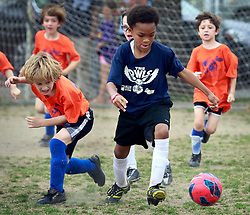 23 March 2013. New Orleans, Louisiana,  USA. .Carrolton Boosters Soccer. Under 8's. Semi finals. Owls emerge victorious over the Sharks taking them to the finals. .Photo; Charlie Varley.