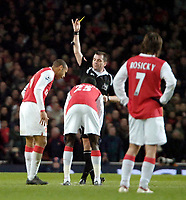 Photo: Ed Godden/Sportsbeat Images.<br /> Arsenal v Wigan Athletic. The Barclays Premiership. 11/02/2007. Arsenal's Thierry Henry is booked.
