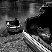 DUR DURIS<br /> <br /> That day, the youngest of three brothers was the last to wake up. It was called Douro and awoke with a start, from a sleep that only do the rivers and, to date, only legends could witness. While the brothers Tejo and Guadiana, could quietly stream down the mountain, choosing softer land and plains, the Douro had to face the hard way, through the rocky canyons of northern Portugal.<br /> Today, these images take the same stony path, perhaps to prevent that the river falls asleep. The construction of large dams tamed the course of the Douro, but in the riverbanks, the legend continues to endure with the eternal confrontation and dialogue that carved the rock, the mountain and the man.<br /> Distant from the route of the river cruises where the water is just one more road, flat, between floodgates. I preferred to embark on a counter-current journey along the Douro and its tributaries (Támega, and Corgo).<br /> <br />  Still life or artificial construction that with time became simple artifice. A journey in search of the humans transformed by the rock and a landscape petrified by the absence of local people.<br /> The course of the river is the only thread of this route without a guide, where the mirror-like waters may be merely a reflection of its inhabitants. Waking up late but waking up on time to track down this river that carved rocks and dilutes people in hard (Duris in Latin) water (Dur in Celtic). <br /> <br /> Tâmega river.