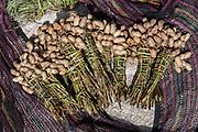 Peanuts for sale<br /> Local market<br /> Near Wamena<br /> Trikora Mountains<br /> West Papua<br /> Indonesia