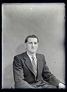vintage portrait of a young businessman France, circa 1930s