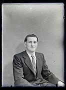 vintage portrait of a young businessman France, circa 1930s