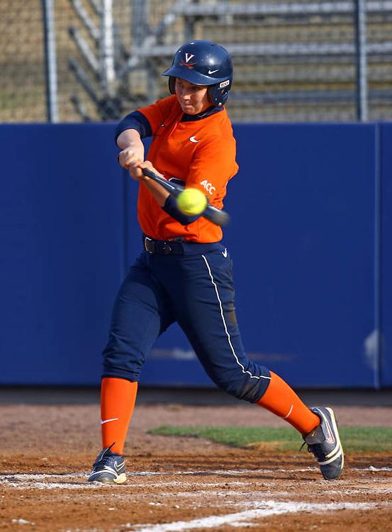UVa softball player Sarah Tacke  at the University of Virginia in Charlottesville, Virginia. Photo/Andrew Shurtleff.