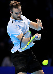 Jack Sock during day five of the NITTO ATP World Tour Finals at the O2 Arena, London.