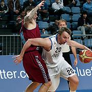 Anadolu Efes's Dusko Savanovic (R) during their Turkish Basketball League match Anadolu Efes between Trabzonspor at Sinan Erdem Arena in Istanbul, Turkey, Saturday, December 10, 2011. Photo by TURKPIX