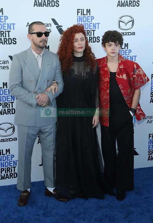 February 8, 2020, Los Angeles, California, United States: 2020 Film Independent Spirit Awards held at Santa Monica Pier..Featuring: Shia LaBeouf, Alma Har'el, Noah Jupe.Where: Los Angeles, California, United States.When: 08 Feb 2020.Credit: Faye's VisionCover Images (Credit Image: © Cover Images via ZUMA Press)