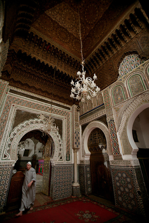 Moulay Idriss Tomb. Moulay Idriss is the founder of Morocco and of Fes. His Zaouia is considered the holiest building in the holy city of Fes. Although non-muslins can't get in, it's permitted to walk around.and see the  lovely brass dividers. Quiet and serene this place is beautiful and peaceful.