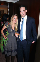 MISS CHRISTABELLE BRUDENELL-BRUCE and LORD BUCKHURST at the UK launch of Tarun Tahiliani Design in association with the British Luxury Council held at The Knightsbridge, London SW7 on 10th March 2005.<br />
