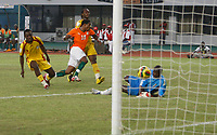 Photo: Steve Bond/Richard Lane Photography.<br />Ivory Coast v Benin. Africa Cup of Nations. 25/01/2008. Abdul Kadir Keita (C) shot enters the net for goal no3. Keeper Rachad Chitou can only watch the ball enter the net