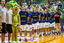 National team Slovenia during friendly basketball match between National teams of Slovenia and Hungary on day 1 of Adecco Cup 2017, on August 4th in Arena Tabor, Maribor, Slovenia. Photo by Grega Valancic/ Sportida