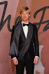 Domhnall Gleeson attending The Fashion Awards 2016 at the Royal Albert Hall, London.
