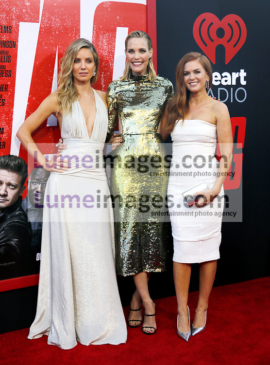 Annabelle Wallis, Leslie Bibb and Isla Fisher at the Los Angeles premiere of 'Tag' held at the Regency Village Theatre in Westwood, USA on June 7, 2018.