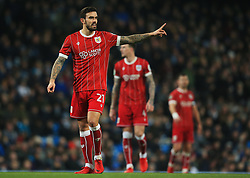 Marlon Pack of Bristol City gestures - Mandatory by-line: Matt McNulty/JMP - 09/01/2018 - FOOTBALL - Etihad Stadium - Manchester, England - Manchester City v Bristol City - Carabao Cup Semi-Final First Leg