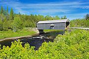 McCann or Didgeguash River #4  covered bridge (1938)<br /> St. Martins<br /> New Brunswick<br /> Canada