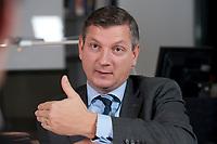 03 NOV 2010, BERLIN/GERMANY:<br /> Boris Schucht, Sprecher der Geschaeftsfuehrung 50 Hertz Transmission GmbH, waehrend einem Interview, 50 Hertz Transmission GmbH<br /> IMAGE: 20101103-03-023