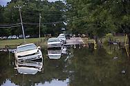 Floodwater in Prarieville, Louisiana
