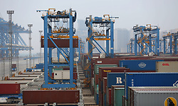 April 20, 2020, Qingdao, Qingdao, China: Shandong,CHINA-Since the beginning of this year, Qingdao port in shandong, located in the Qingdao area of the shandong free trade zone, has been fully automated. By further optimizing the production process and improving the production system, the production efficiency of the port has been continuously improved, and the average operating efficiency of a single machine has reached the world record of 44.6 natural box/hour, which is more than 50% higher than that of similar terminals in the world...As enterprises continue to return to work, the current shandong port Qingdao port entry and exit ships have been close to the same period last year. (Credit Image: © SIPA Asia via ZUMA Wire)