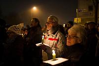 DEU, Deutschland, Germany, Erfurt, 04.12.2014:<br /> Demonstration vor dem Landtag gegen die Bildung einer Rot-Rot-Grünen Regierung mit Bodo Ramelow (Die Linke) als Ministerpräsident.