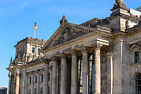 Berlin, Germany. The Reichstag building was opened in 1894 and closed in 1933 after a severe fire. After restoration it has after 1999 again been a meeting place for the German Parliament, the Bundestag.