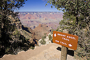 Oct. 6, 2008 -- GRAND CANYON NATIONAL PARK: The trailhead of the Bright Angel Trail along the south rim of the Grand Canyon National Park in northern Arizona. The Bright Angel is the most popular hiking trail in the park. Photo by Jack Kurtz