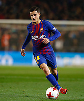 25th September 2018, Camp Nou, Barcelona, Spain; Copa del Rey football, quarter final, second leg, Barcelona versus Espanyol; Coutinho from FC Barcelona Barca with the ball PUBLICATIONxINxGERxSUIxAUTxHUNxSWExNORxDENxFINxONLY