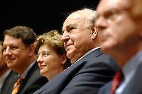 30 JUN 2007, LEIPZIG/GERMANY:<br /> Philipp Missfelder (L), MdB, Vorsitzender Junge Union, Maike Richter (M), Lebensgefaehrtin von Helmut Kohl, und Helmut Kohl (R), CDU, Bundeskanzler, Festveranstaltung aus Anlass des Europaeischen Jugendkongresses der Konrad-Adenauer-Stiftung, KAS, Gewandhaus zu Leipzig<br /> IMAGE: 20070630-01-105<br /> KEYWORDS: Philipp Mißfelder