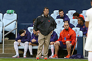 13 December 2015: Clemson head coach Mike Noonan. The Clemson University Tigers played the Stanford University Cardinal at Sporting Park in Kansas City, Kansas in the 2015 NCAA Division I Men's College Cup championship match. Stanford won the game 4-0.