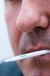 Suspect having DNA taken in Middlesborough police station