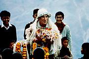 Sir Edmund Hillary during New Zealand Himalayan Trust work with sherpa commnity, Khumbu Himal, Nepal.
