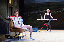 Rita, Sue and Bob Too<br /> By Andrea Dunbar<br /> at The Royal Court Theatre, London, Great Britain <br /> Press photocall <br /> 11Pm h January 2018 <br /> <br /> Directed by Kate Wasserberg <br /> <br /> James Atherton as Bob <br /> <br /> <br /> Samantha Robinson as Michelle <br /> <br /> <br /> <br /> Photograph by Elliott Franks
