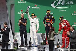 October 29, 2017 - Mexico-City, Mexico - Motorsports: FIA Formula One World Championship 2017, Grand Prix of Mexico, .#77 Valtteri Bottas (FIN, Mercedes AMG Petronas F1 Team), #33 Max Verstappen (NLD, Red Bull Racing), #7 Kimi Raikkonen (FIN, Scuderia Ferrari) (Credit Image: © Hoch Zwei via ZUMA Wire)