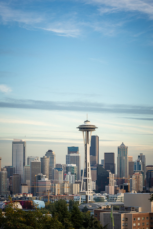 Seattle skyline and Space Needle seen from Queen Anne