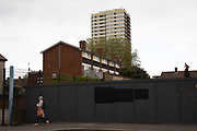 Old high rise tower block and council houses in Stratford in East London, United Kingdom. Stratford is now East Londons primary retail, cultural and leisure centre. It has also become the second most significant business location in the east of the capital.