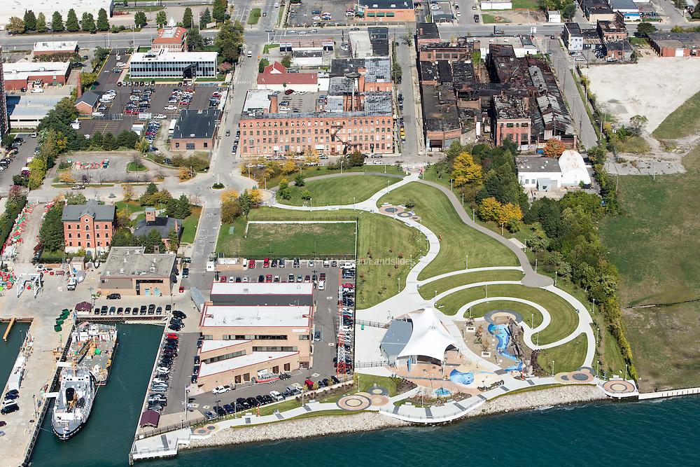 Mt Elliot Park on the Detroit River, a part of the Detroit Riverfront Conservancy's effort.