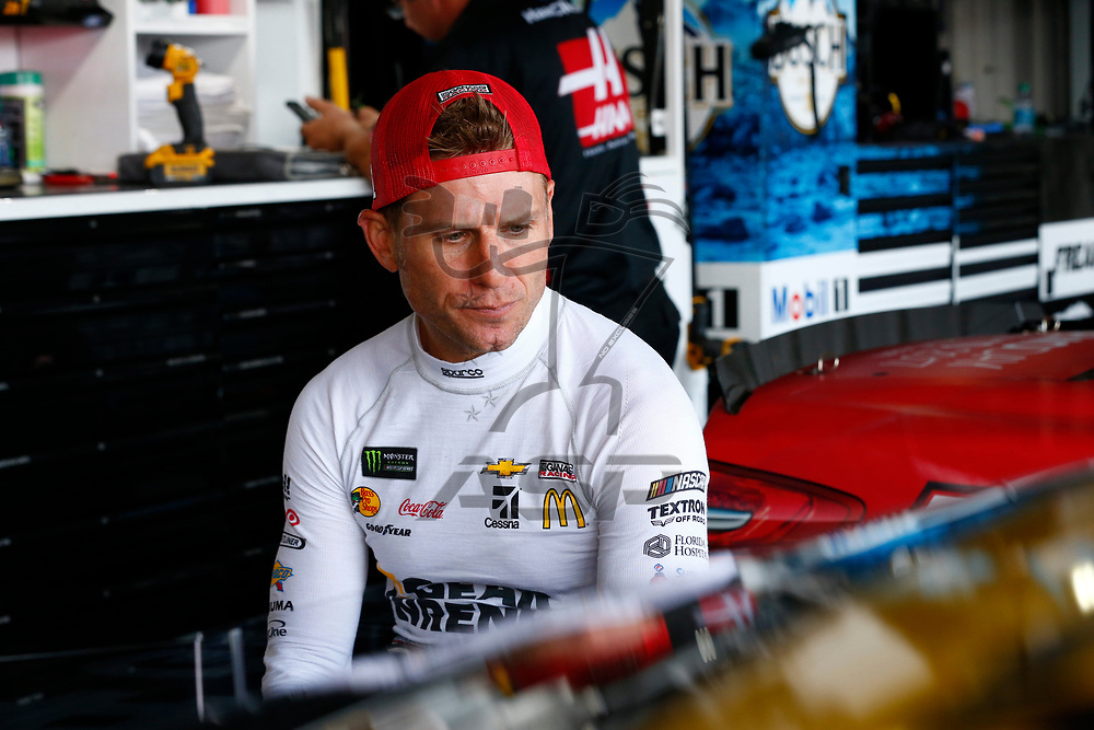 April 29, 2017 - Richmond, Virginia, USA: Jamie McMurray (1) hangs out in the garage during practice for the Toyota Owners 400 at Richmond International Speedway in Richmond, Virginia.