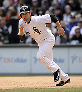 CHICAGO - APRIL 06:  Conor Gillaspie #12 of the Chicago White Sox runs the bases against the Seattle Mariners on April 06, 2013 at U.S. Cellular Field in Chicago, Illinois.  The White Sox defeated the Mariners 4-3.  (Photo by Ron Vesely)   Subject:  Conor Gillaspie