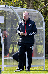 WREXHAM, WALES - Friday, March 26, 2021: Wales' Under-21 head coach Paul Bodin during an Under-21 international friendly match between Wales and Republic of Ireland at Colliers Park. Republic of Ireland won 2-1. (Pic by David Rawcliffe/Propaganda)