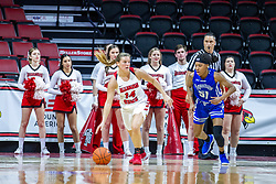 NORMAL, IL - January 03: Paige Saylor gets a rebound late in the game and heads back to friendly territory with Del'Janae Williams defending during a college women's basketball game between the ISU Redbirds and the Sycamores of Indiana State January 03 2020 at Redbird Arena in Normal, IL. (Photo by Alan Look)
