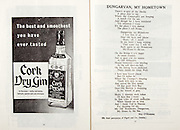 All Ireland Senior Hurling Championship Final,.06.09.1959, 09.06.1959, 6th September 1959,.Minor Kilkenny v Tipperary, .Senior Kilkenny v Limerick, Waterford 3-12. Kilkenny 1-10, ..Advertisement, Cork Dry Gin,..Dungarvan, My Hometown, Dungarvan My Hometown,