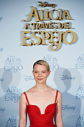 051216 'Alice Through The Looking Glass' film Madrid Premiere