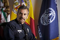Los Angeles Police Department Chief Charlie Beck interviewed in his office at the LAPD Headquarters in Los Angeles, CA.  Photo by David Sprague