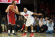 DALLAS, TX - DECEMBER 16: Sterling Brown #3 of the SMU Mustangs defends against Kyle Caudill #2 of the Nicholls State Colonels on December 16, 2015 at Moody Coliseum in Dallas, Texas.  (Photo by Cooper Neill/Getty Images) *** Local Caption *** Sterling Brown; Kyle Caudill